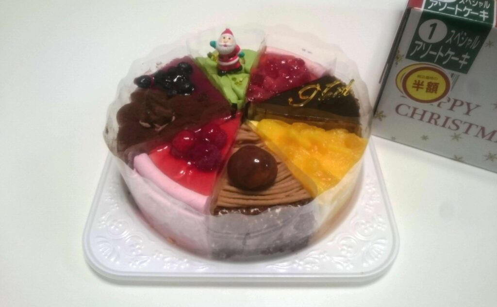 ララコープで半額で購入したクリスマスケーキ