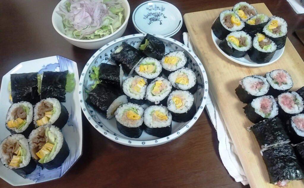 新撰佐賀のり焼のりを使った巻き寿司